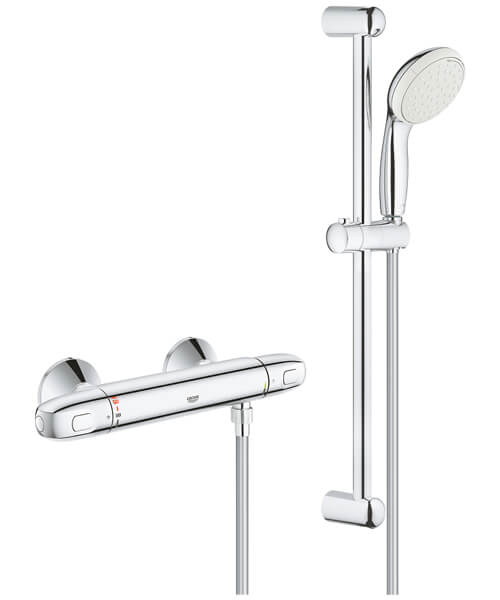 Grohe Grohtherm 1000 New Thermostatic Shower Mixer Valve With Kit