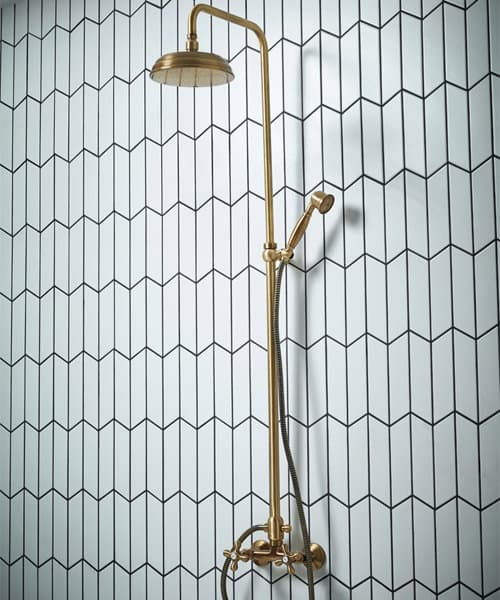 Frontline Holborn Etros Brass Shower Column