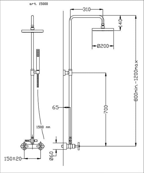 Technical drawing 60220 / FMART15000