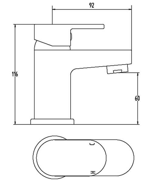 Technical drawing 62121 / BIQSP10