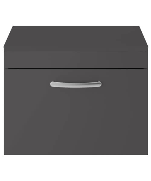 Alternate image of Nuie Premier Athena 600mm Wide Single Drawer Wall Hung Cabinet With Worktop