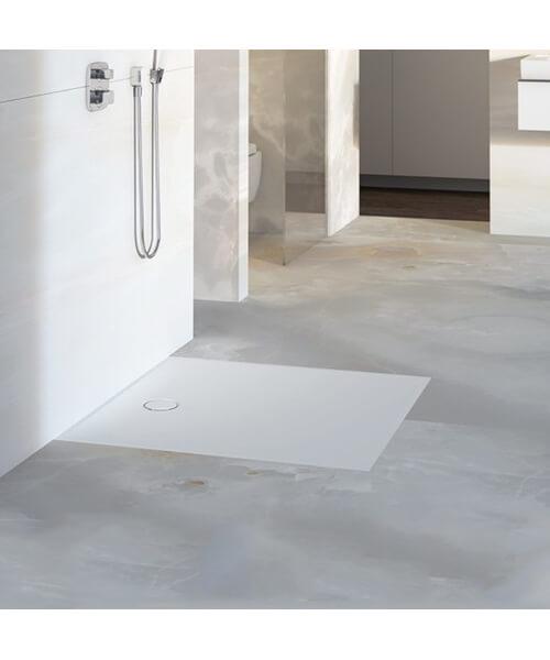 Geberit Setaplano Rectangular Shower Surface White Alpine