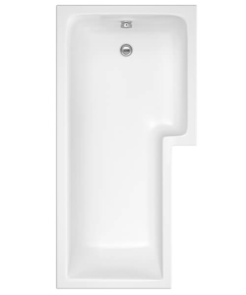 Additional image of Nuie Premier Square Space Saving L-Shape Shower Bath