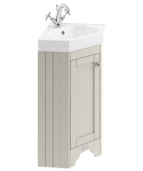Old London 595mm Corner Vanity Unit With Basin