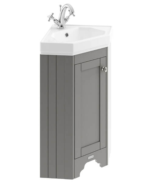Additional image of Old London 595mm Corner Vanity Unit With Basin