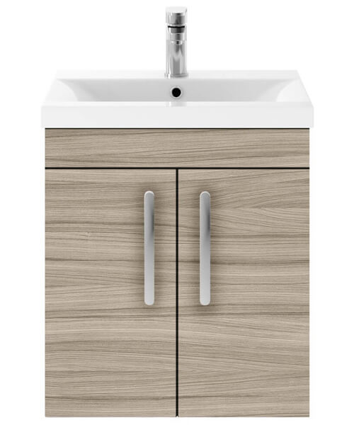 Additional image of Nuie Premier Athena 500mm Wall Hung 2 Door Cabinet And Basin 1