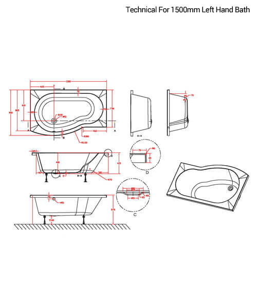 Technical drawing 52498 / SBATH20