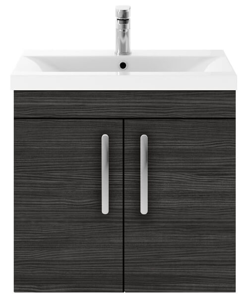 Alternate image of Nuie Premier Athena 600mm Wall Hung 2 Door Cabinet With Basin 1