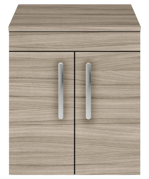 Additional image of Nuie Premier Athena 500mm Wall Hung 2 Door Cabinet With Worktop