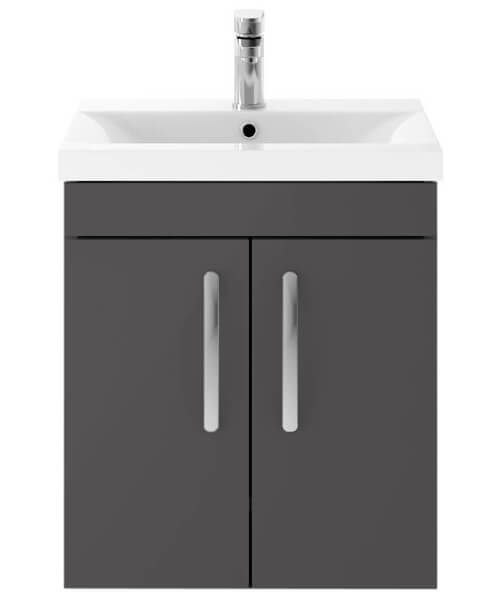 Alternate image of Nuie Premier Athena 500mm Wall Hung 2 Door Cabinet And Basin 2