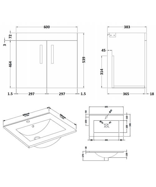 Technical drawing 59519 / ATH095B
