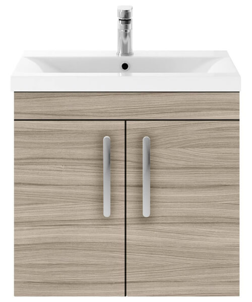 Additional image of Nuie Premier Athena 600mm Wall Hung 2 Door Cabinet With Basin 2