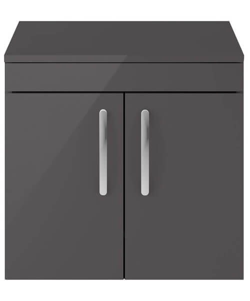 Alternate image of Nuie Premier Athena 600mm Wall Hung 2 Door Cabinet With Worktop
