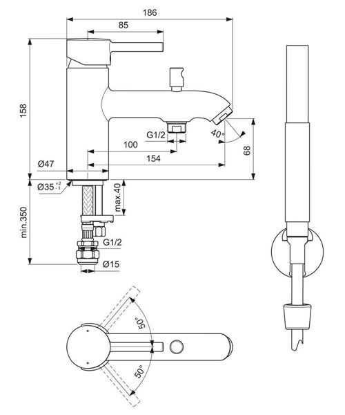 Technical drawing 58613 / BC191AA