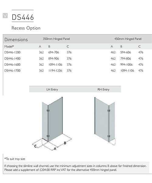 Technical drawing 54994 / DS446-1200LHE
