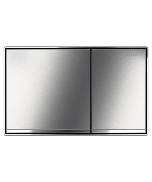 Geberit Sigma60 Brushed Chrome Dual Flush Plate 214 x 132mm