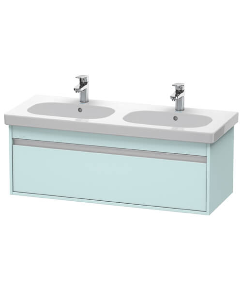 Additional image of Duravit Ketho 1150mm 1 Box Drawer Wall-Mounted Vanity Unit With D-Code Double Bowl Basin