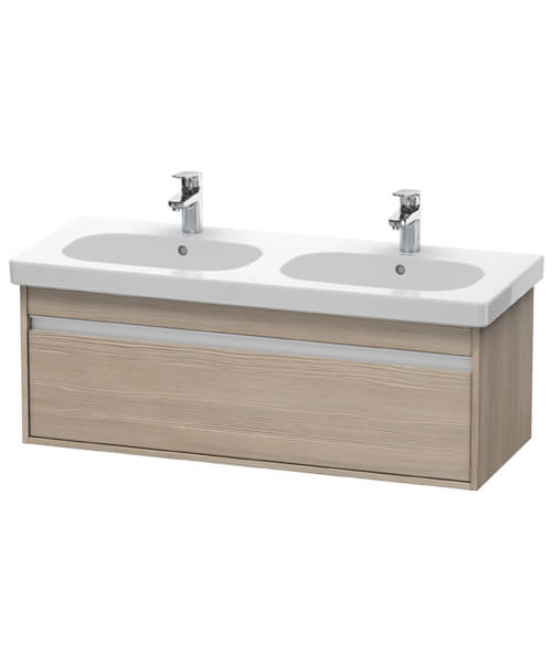 Alternate image of Duravit Ketho 1150mm 1 Box Drawer Wall-Mounted Vanity Unit With D-Code Double Bowl Basin