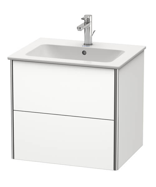 Duravit XSquare 2 Drawer Wall Mounted Vanity Unit For ME By Starck Basin