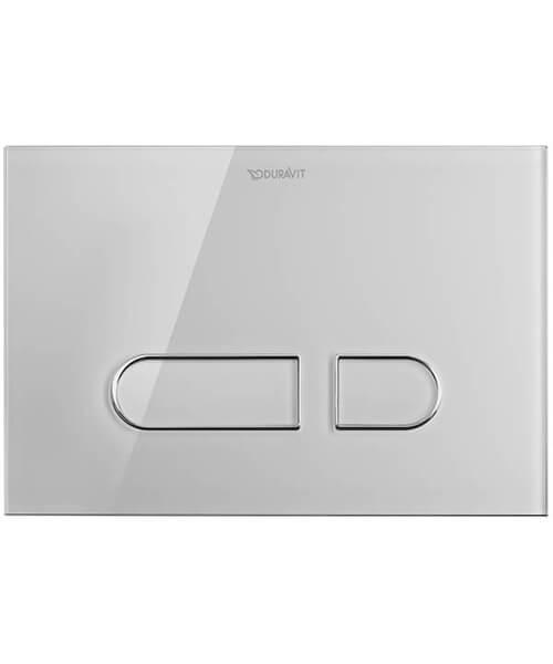 Duravit DuraSystem Actuator Plate A1 - Glass White