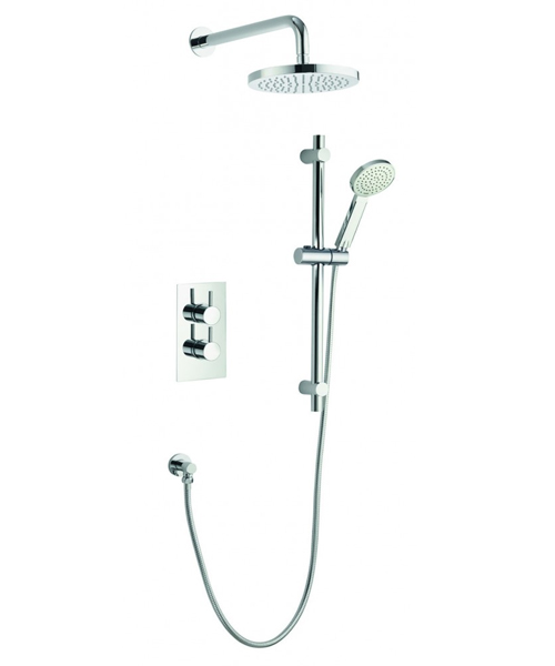 Pura Arco Thermostatic Valve With Head And Slide Rail Kit