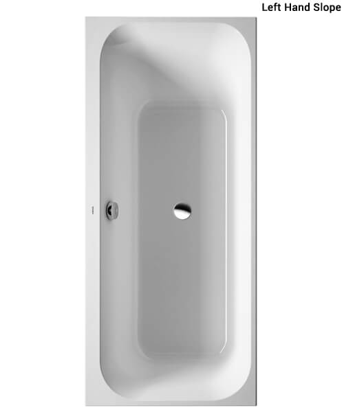 Duravit Happy D2 Built-In Bath White Without Frame With Single Backrest Slopes