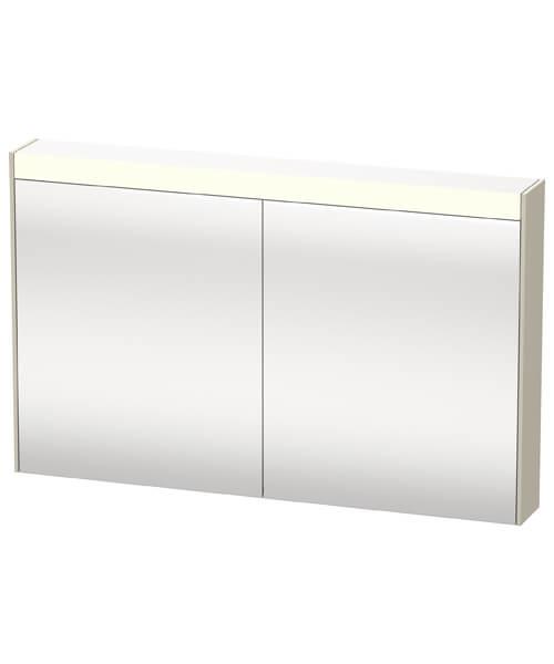 Alternate image of Duravit Brioso Double Door Mirror Cabinet 1220 x 760mm