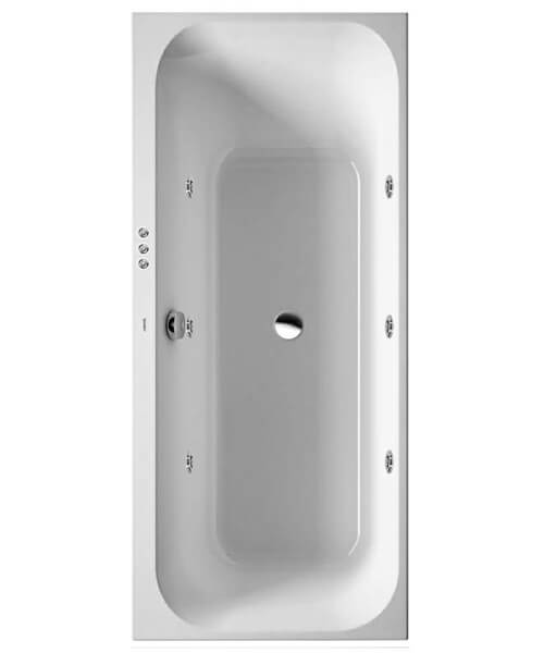 Duravit Happy D2 Built In Bath With One Backrest Slope