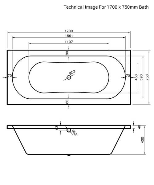 Additional image of Nuie Premier Otley Round Double Ended Acrylic Bath