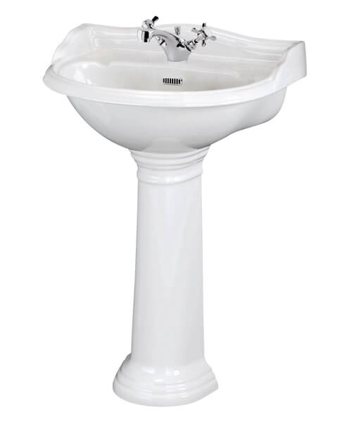 Hudson Reed Chancery 500mm 1 Taphole Basin With Pedestal