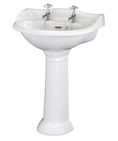 Alternate image of Hudson Reed Chancery 500mm 1 Taphole Basin With Pedestal
