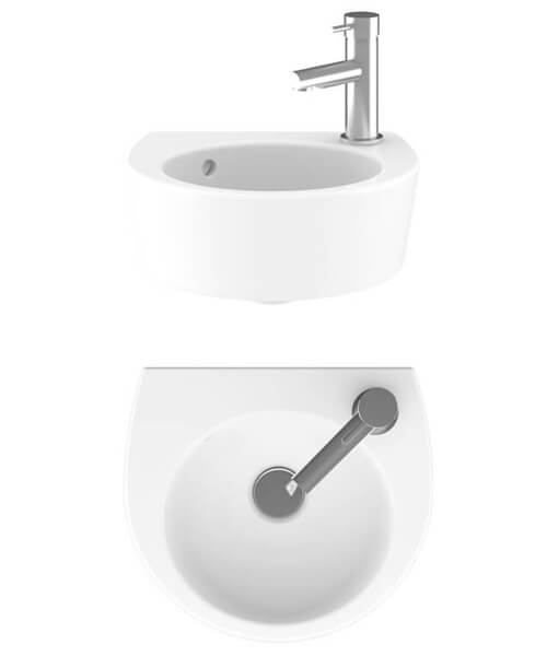 Crosswater Kai Cloakroom Basin With 1 taphole