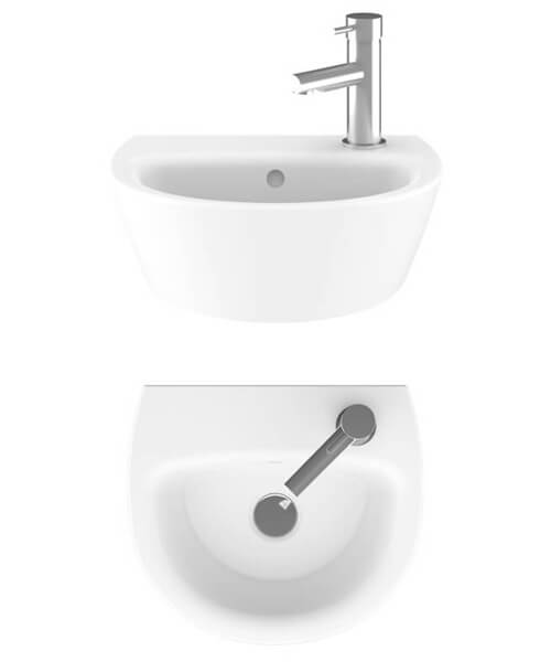 Alternate image of Crosswater Kai Cloakroom Basin With 1 taphole