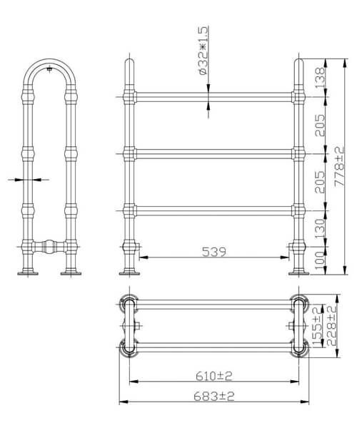 Technical drawing 30953 / LDR009