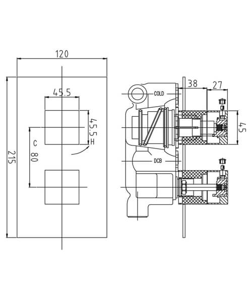 Technical drawing 33495 / SQR3210