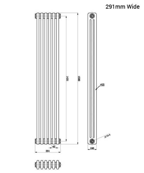 Technical drawing 12857 / HX308