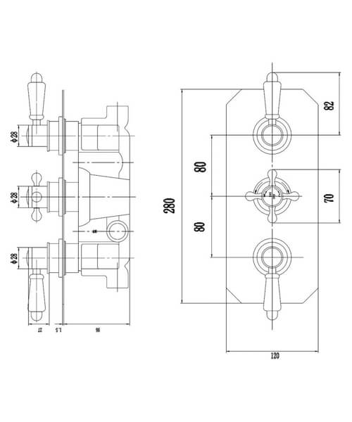 Technical drawing 53509 / TSVT003