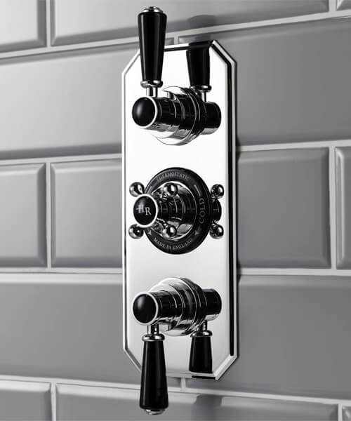 Additional image of Hudson Reed Topaz Triple Concealed Thermostatic Shower Valve