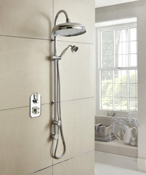 Additional image of Hudson Reed Topaz Twin Concealed Thermostatic Shower Valve