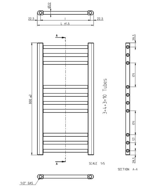 Technical drawing 62072 / KL50X80A