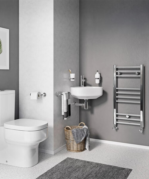 Alternate image of Crosswater Kai 500mm Wide Straight Towel Warmer