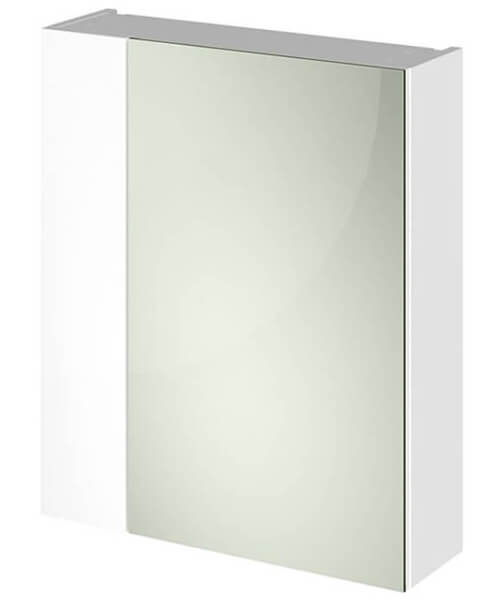 Hudson Reed Fusion 600mm Double Door 75-25 Compact Mirror Cabinet