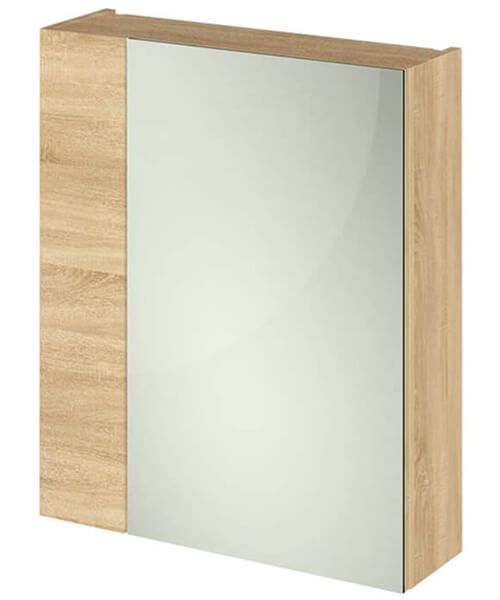 Additional image of Hudson Reed Fusion 600mm Double Door 75-25 Compact Mirror Cabinet