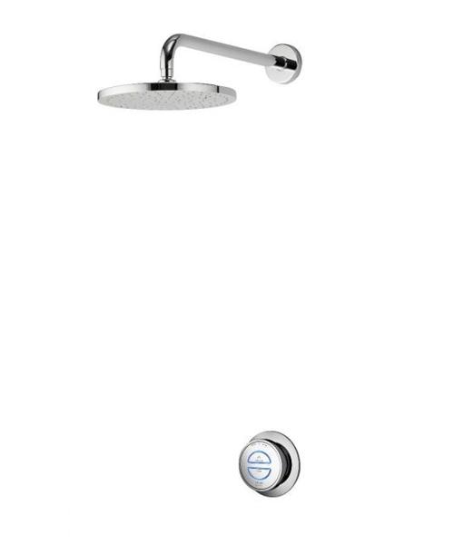 Aqualisa Quartz Smart Digital Divert Concealed With Adjustable Head And Bath Overflow Filler