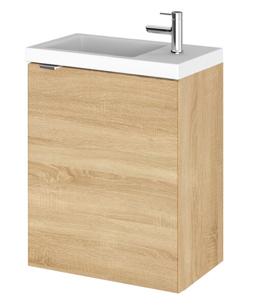 Additional image of Hudson Reed Fusion 400 x 255mm Wall Hung Vanity Unit And Side Taphole Basin
