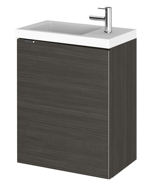 Alternate image of Hudson Reed Fusion 400 x 255mm Wall Hung Vanity Unit And Side Taphole Basin