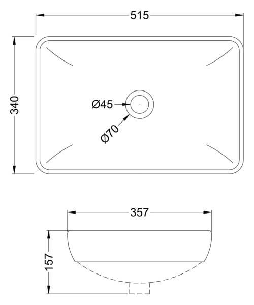 Technical drawing 61796 / NBV181