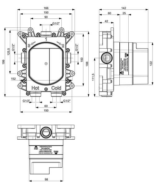 Technical drawing 55439 / ATCB1000LBPC