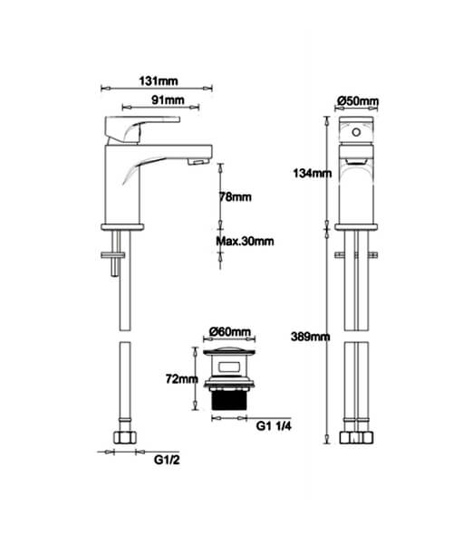Technical drawing 62231 / MBST114P+