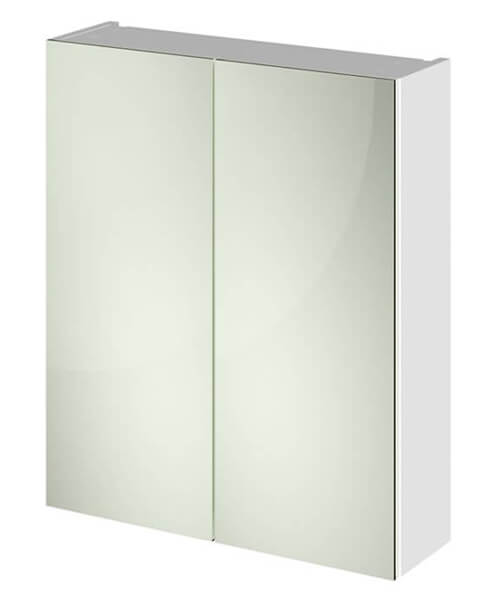 Hudson Reed Fusion 600mm Double Door 50-50 Compact Mirror Cabinet